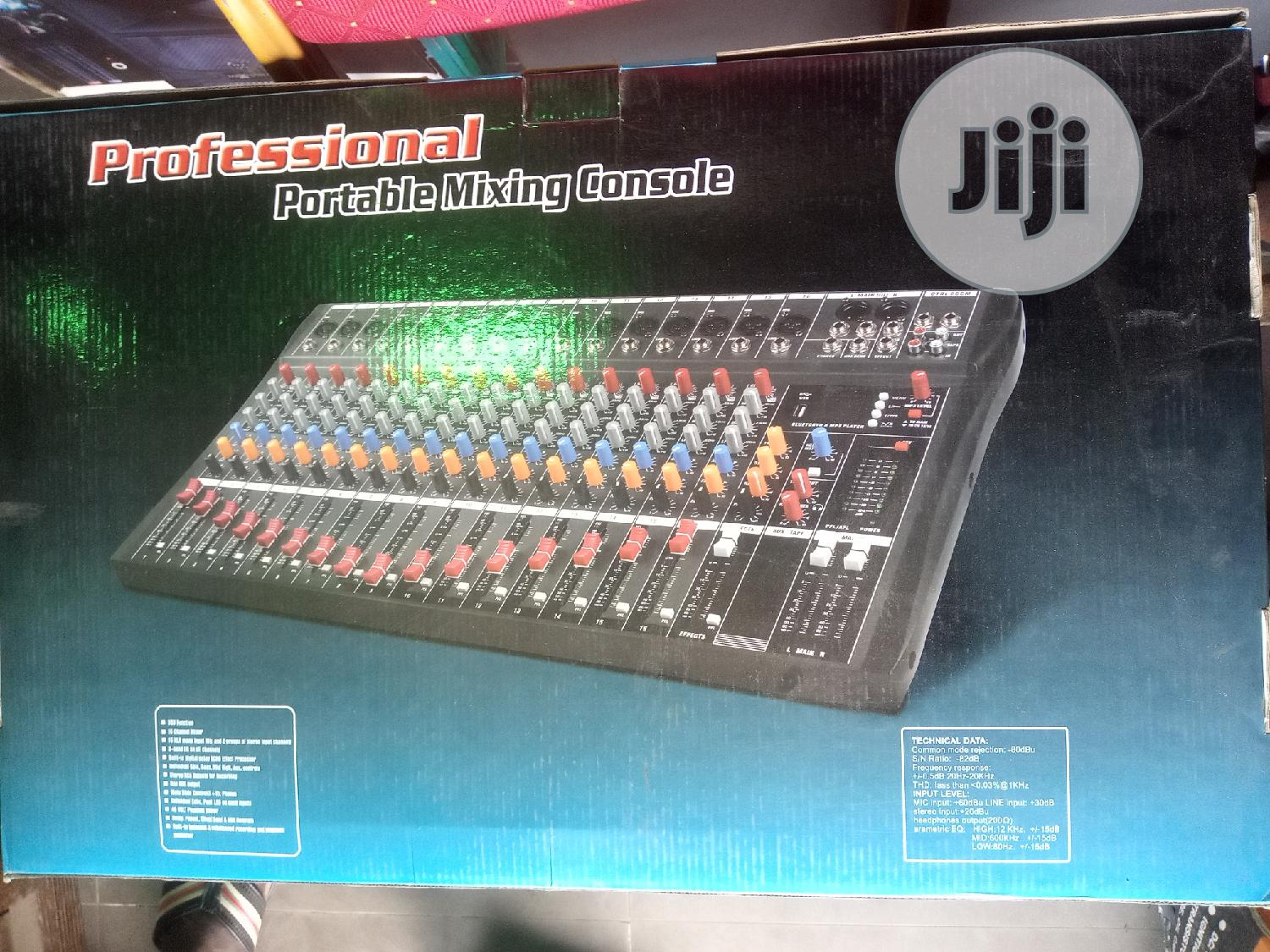 Professional Portable Mixing Console 16channel | Audio & Music Equipment for sale in Mushin, Lagos State, Nigeria