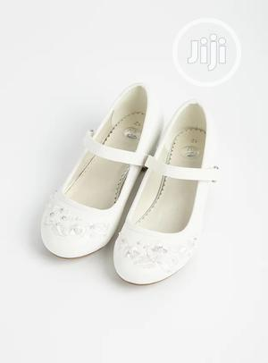 TU White Faux Leather Occasion Shoes | Children's Shoes for sale in Lagos State, Surulere