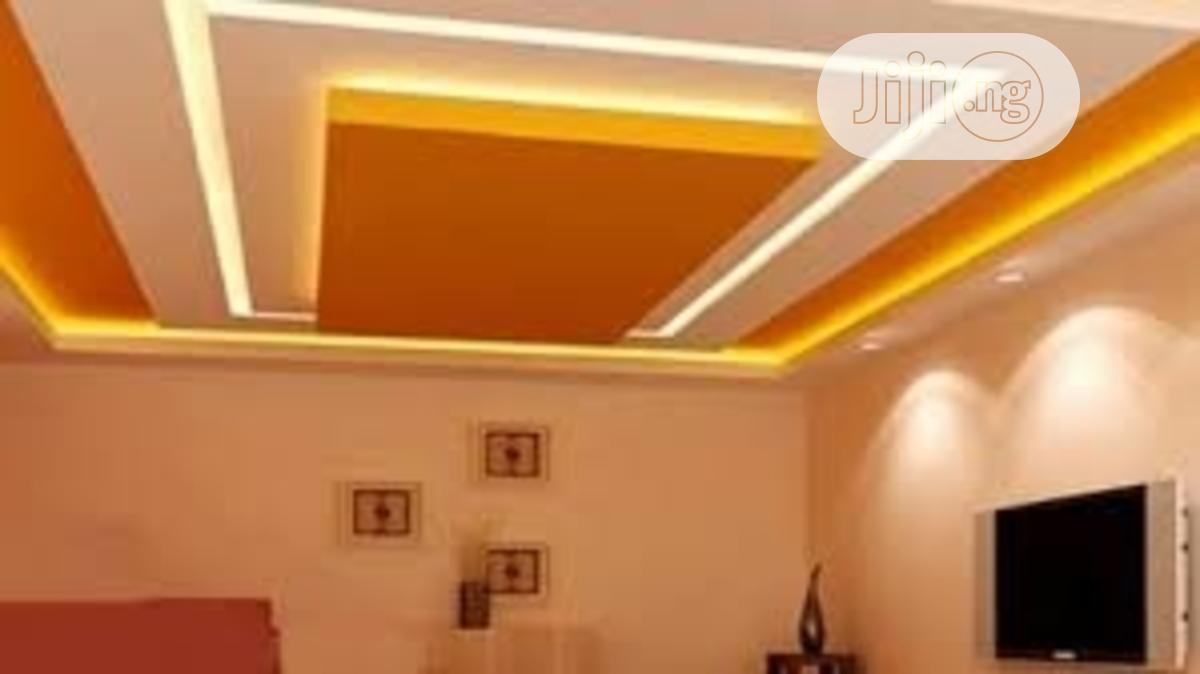 POP Ceiling Work, Suspended Ceilings, 3D Wallpapers, Screedi | Building & Trades Services for sale in Ipaja, Lagos State, Nigeria
