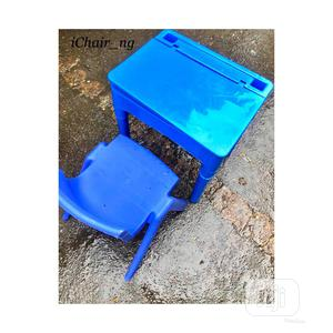 Blue Kids Table And Chair   Children's Furniture for sale in Lagos State, Yaba