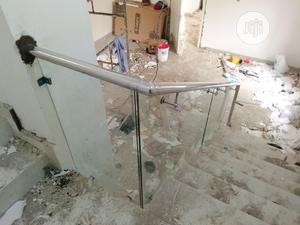 Frameless Glass Handrails (Clear Glass)   Building & Trades Services for sale in Lagos State, Lekki