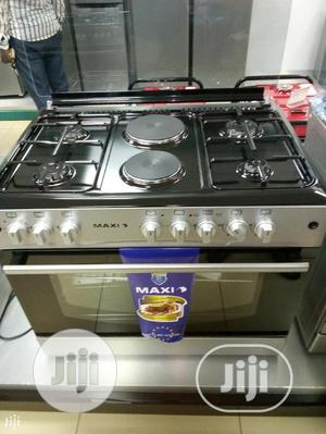 Maxi Gas Cooker 60*90 (4 Gas+2 Electric Plate)-Inox Italian | Kitchen Appliances for sale in Lagos State, Ojo