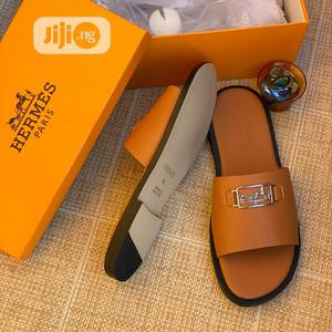 Hermes Brown Leather Slippers   Shoes for sale in Lagos State, Lagos Island (Eko)