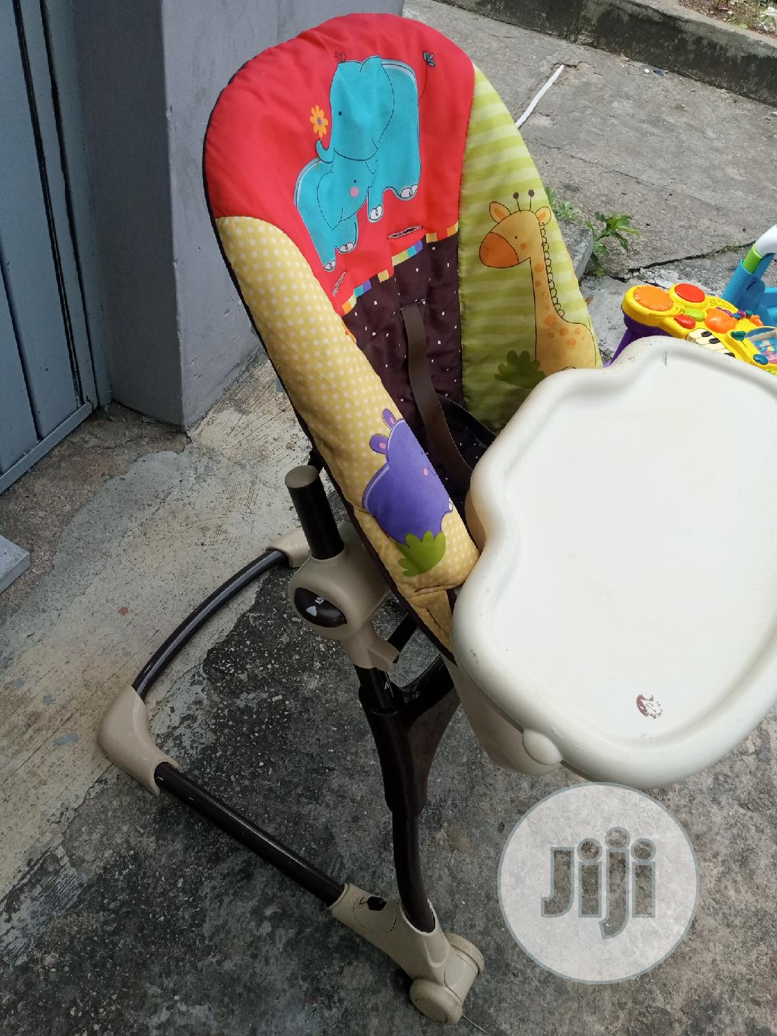 Very Clean High Chair With Dinning