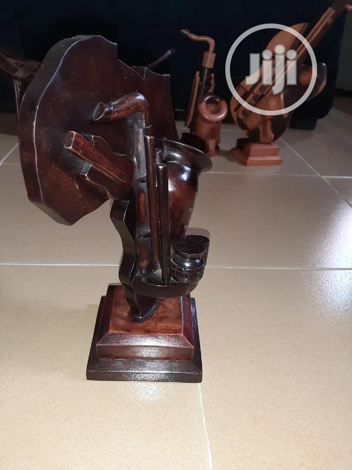 Africa Sculptural Wooden Artwork With Guitar & Saxophone | Arts & Crafts for sale in Abule Egba, Lagos State, Nigeria
