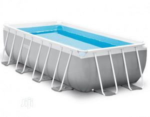 Intex 26792 Prism Frame Rectangular Pool 4.88m X 2.44m X 1.0   Sports Equipment for sale in Lagos State, Ojodu