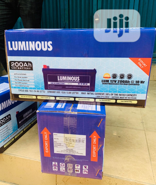 200ah 12v Luminous Solar Battery