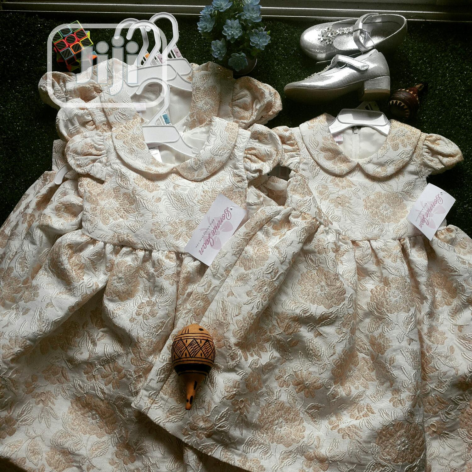 Bonnie Jean Dress Made Damask and Full Flare.