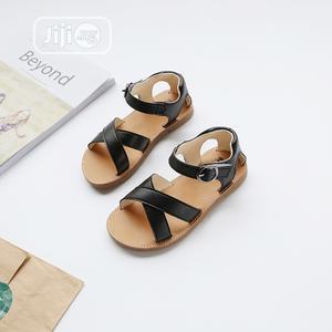 Girls Fashionable Velcro Black Colour Sandal | Children's Shoes for sale in Lagos State, Ikeja