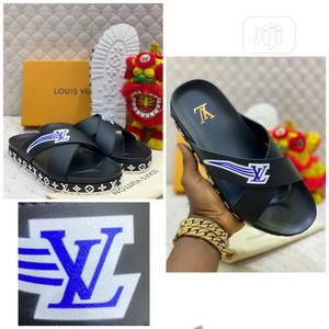 Louis Vuitton Luxury Men Leather Slippers | Shoes for sale in Lagos State, Lagos Island (Eko)