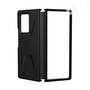 Samsung Galaxy Leather Cover for Galaxy Z Fold2 (Black)   Accessories for Mobile Phones & Tablets for sale in Lagos State, Ikeja