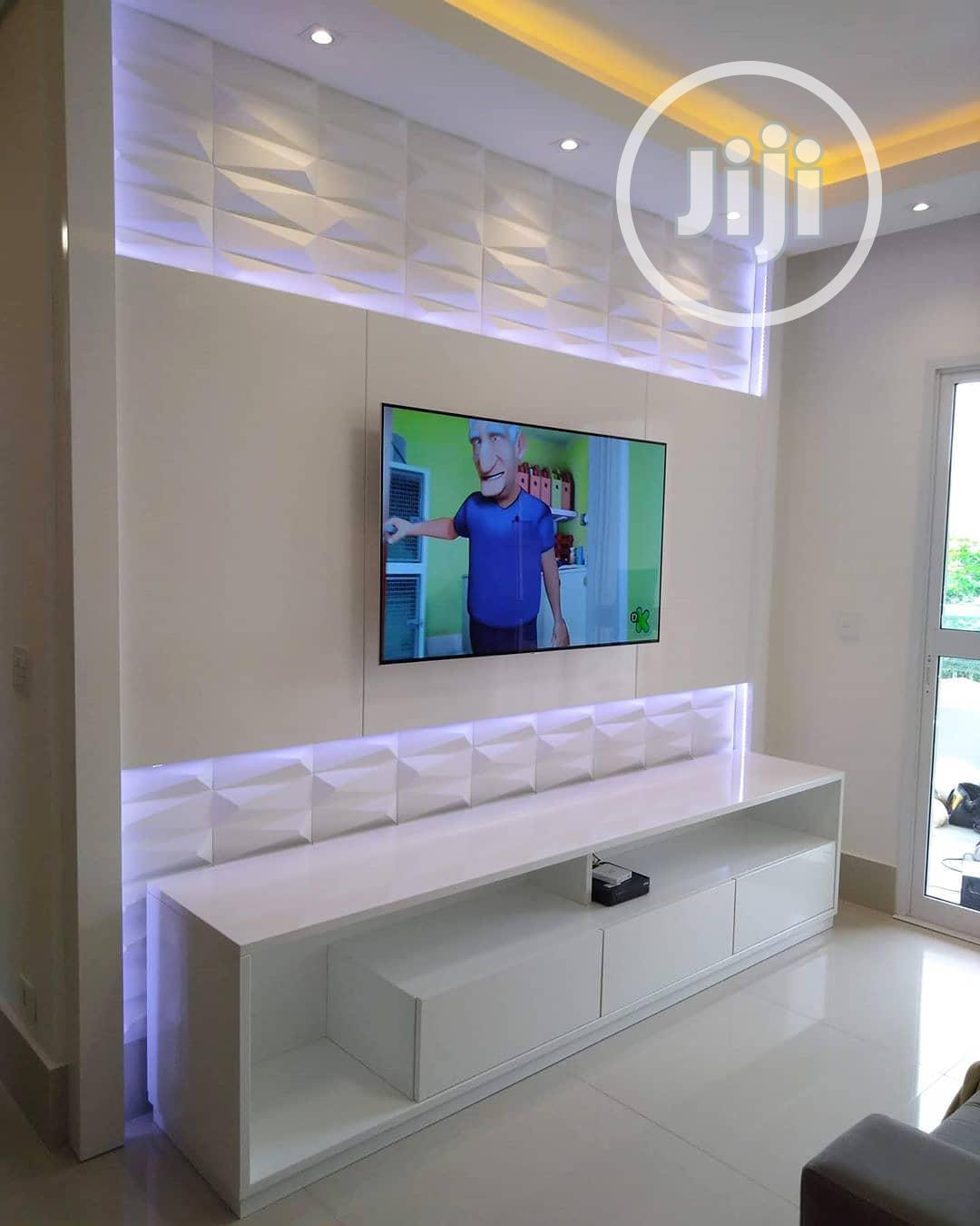 3d Panel Pop Wall Devider Tv Wall Design | Building & Trades Services for sale in Magodo, Lagos State, Nigeria
