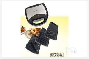 Sokany 3 In 1 Waffle Maker, Sandwich Maker, Bread Toaster | Kitchen Appliances for sale in Lagos State, Mushin