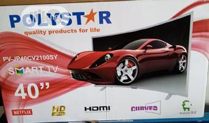 Polystar TV Smart 40 Inches Curved   TV & DVD Equipment for sale in Lagos State, Ajah