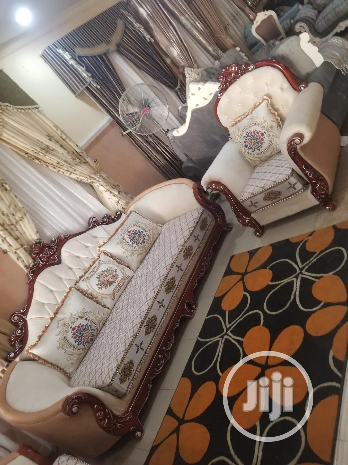 7seater Royal Turkey Fabric Sofa Chair Available Now