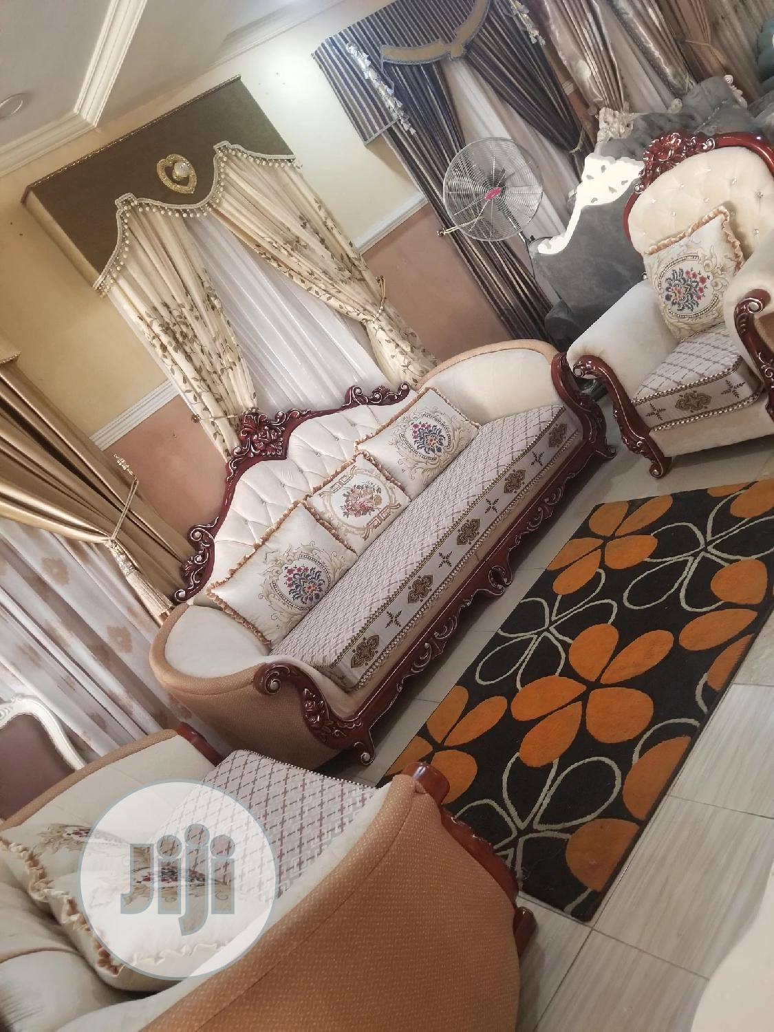 7seater Royal Turkey Fabric Sofa Chair Available Now | Furniture for sale in Ajah, Lagos State, Nigeria