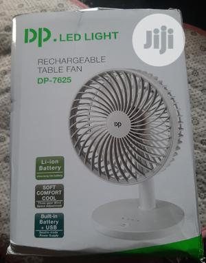 LED Light Rechargeable Table Top Fan DP-7625   Home Appliances for sale in Lagos State, Mushin