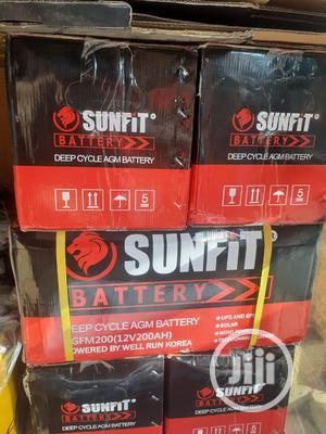 12v 200ah Sunfit Battery   Solar Energy for sale in Lagos State, Ojo