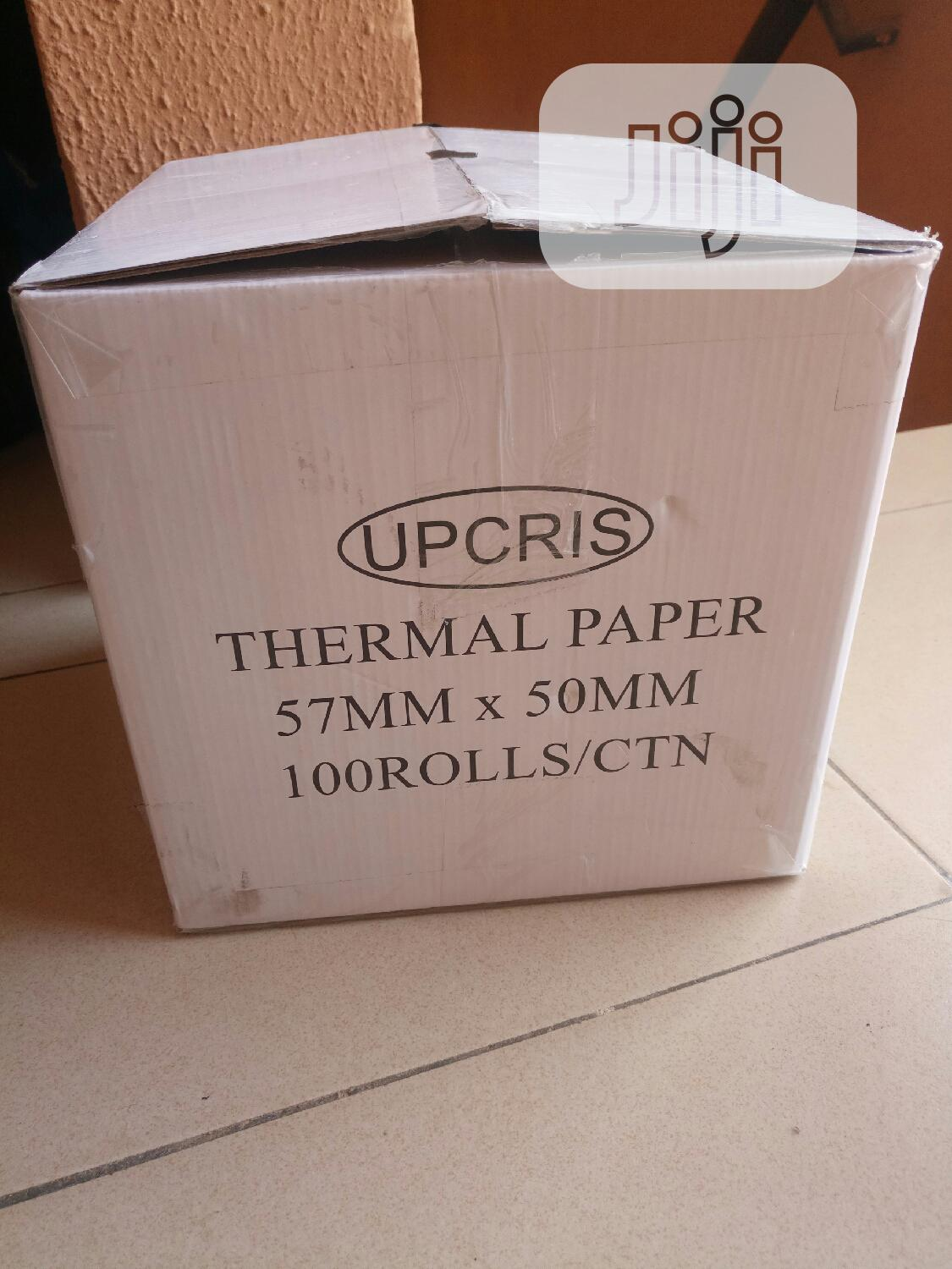 Archive: Thermal Paper 57mm X 50mm. Grade A Premium Quality