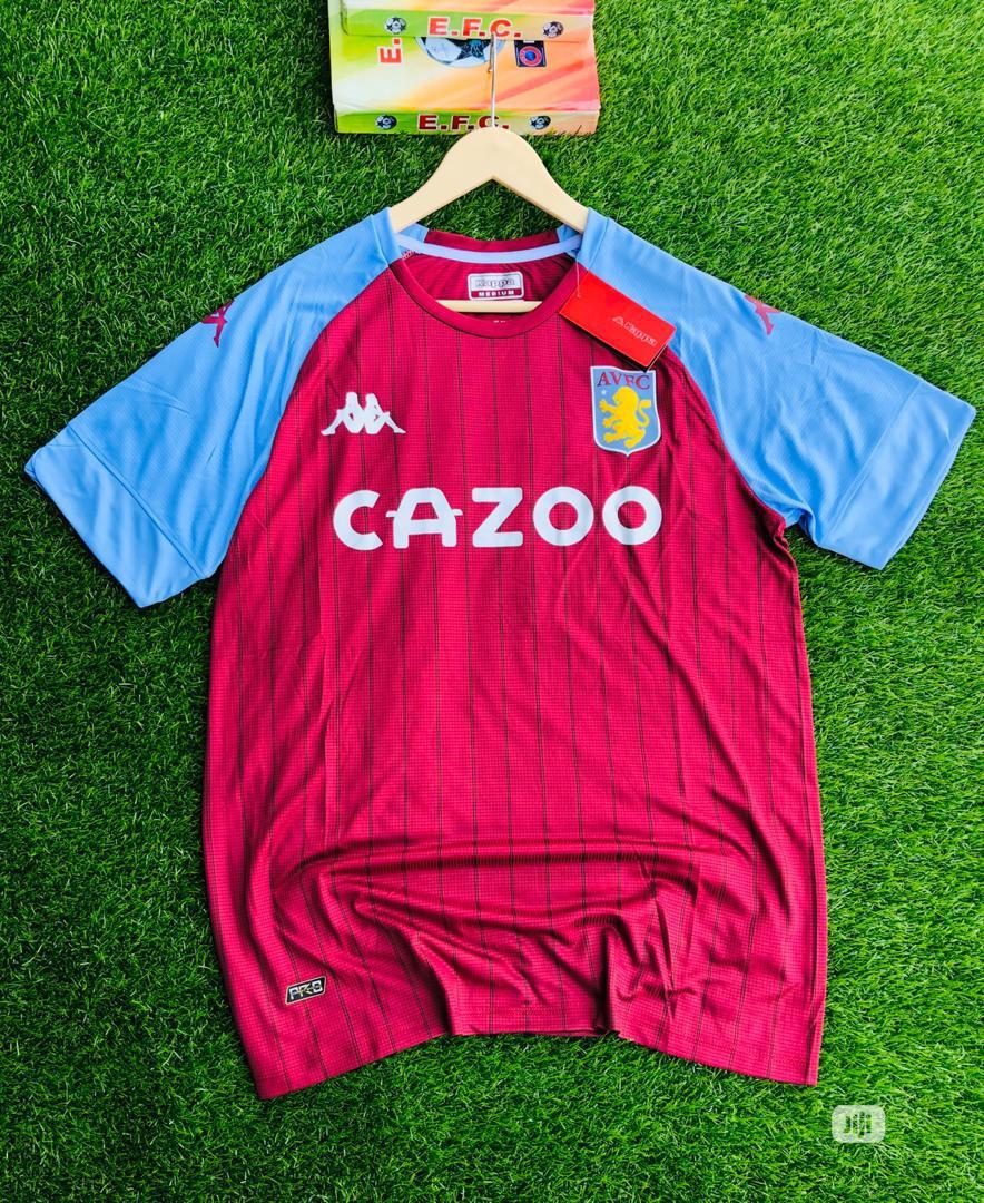 Archive Original Aston Villa Fc 2020 21 Season Home Jersey In Gbagada Clothing Rash Jersey Boss Collection Jiji Ng