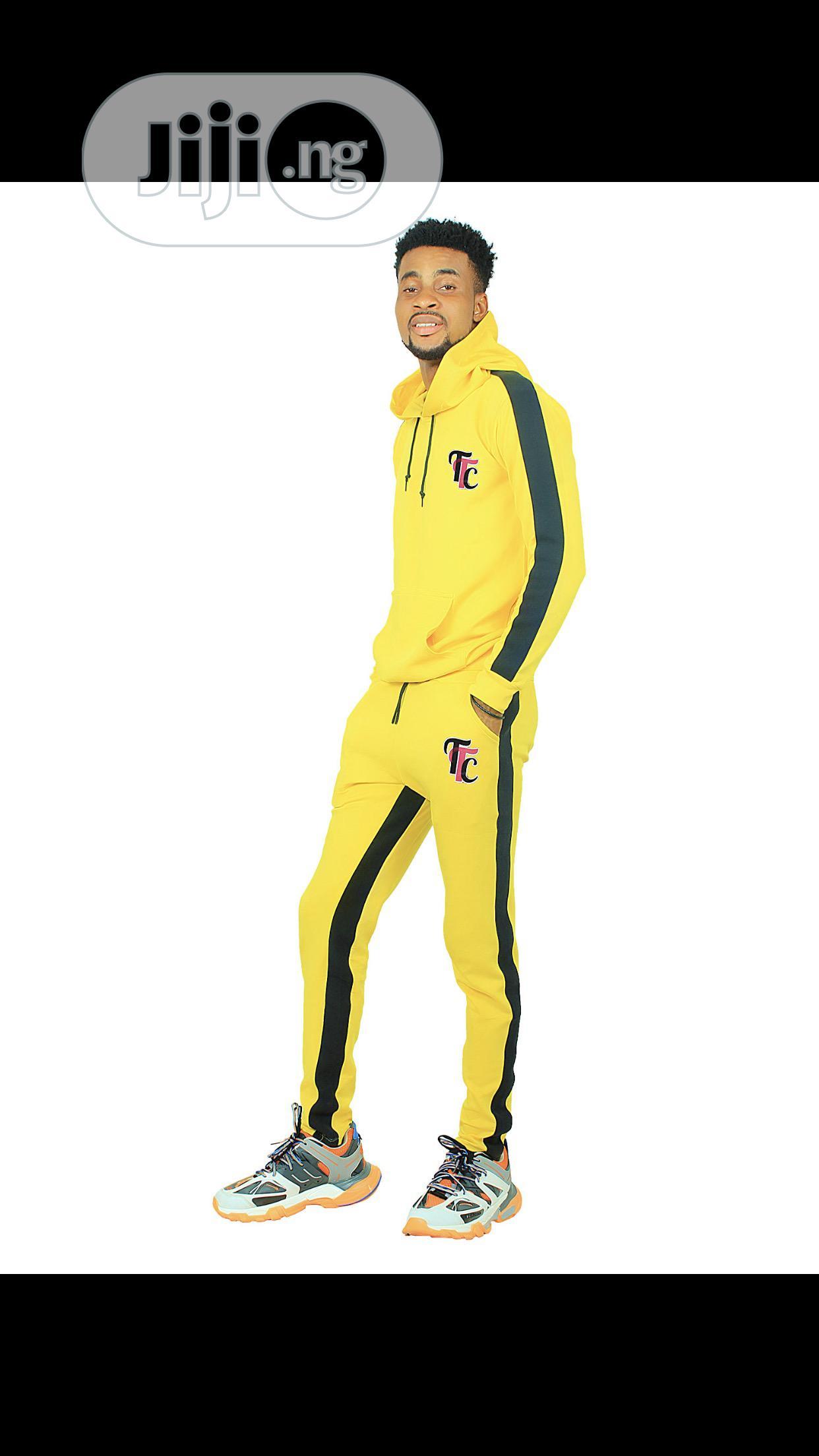 Yellow Unisex Tracksuit