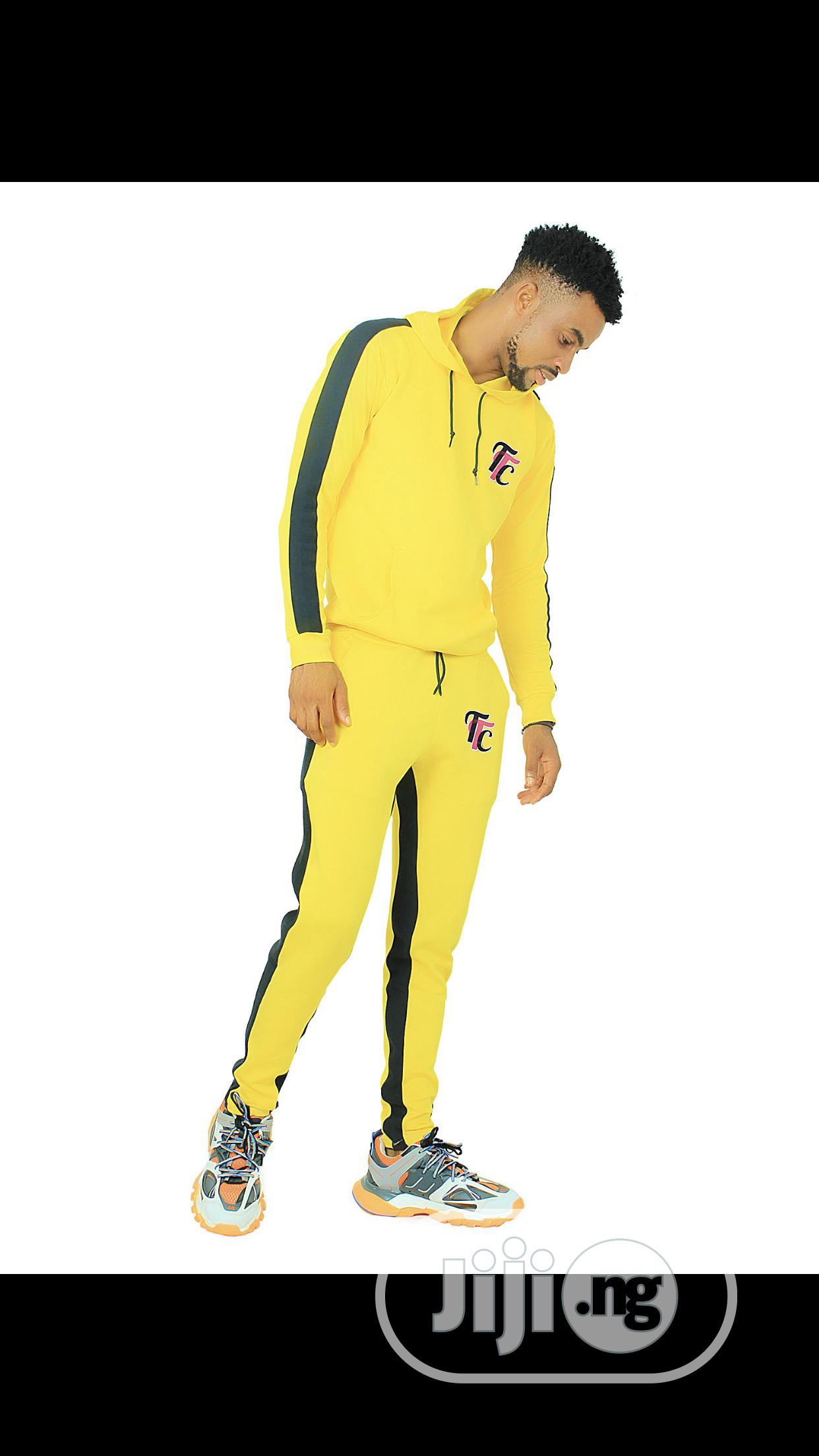 Yellow Unisex Tracksuit | Clothing for sale in Surulere, Lagos State, Nigeria