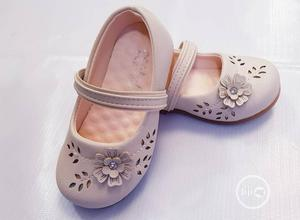 Beige Leather Elastic Strap Shoe | Children's Shoes for sale in Lagos State, Ajah