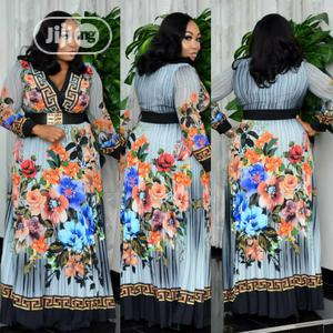 New Female Quality Turkey Long Stoned Print Dress | Clothing for sale in Lagos State, Lagos Island (Eko)