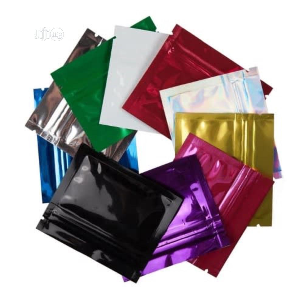Aluminum Foil Colored Zip Lock Bags | Tobacco Accessories for sale in Port-Harcourt, Rivers State, Nigeria