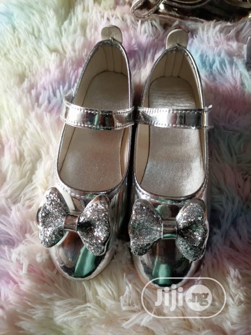 Baby Girls Shoes Silver Size 35