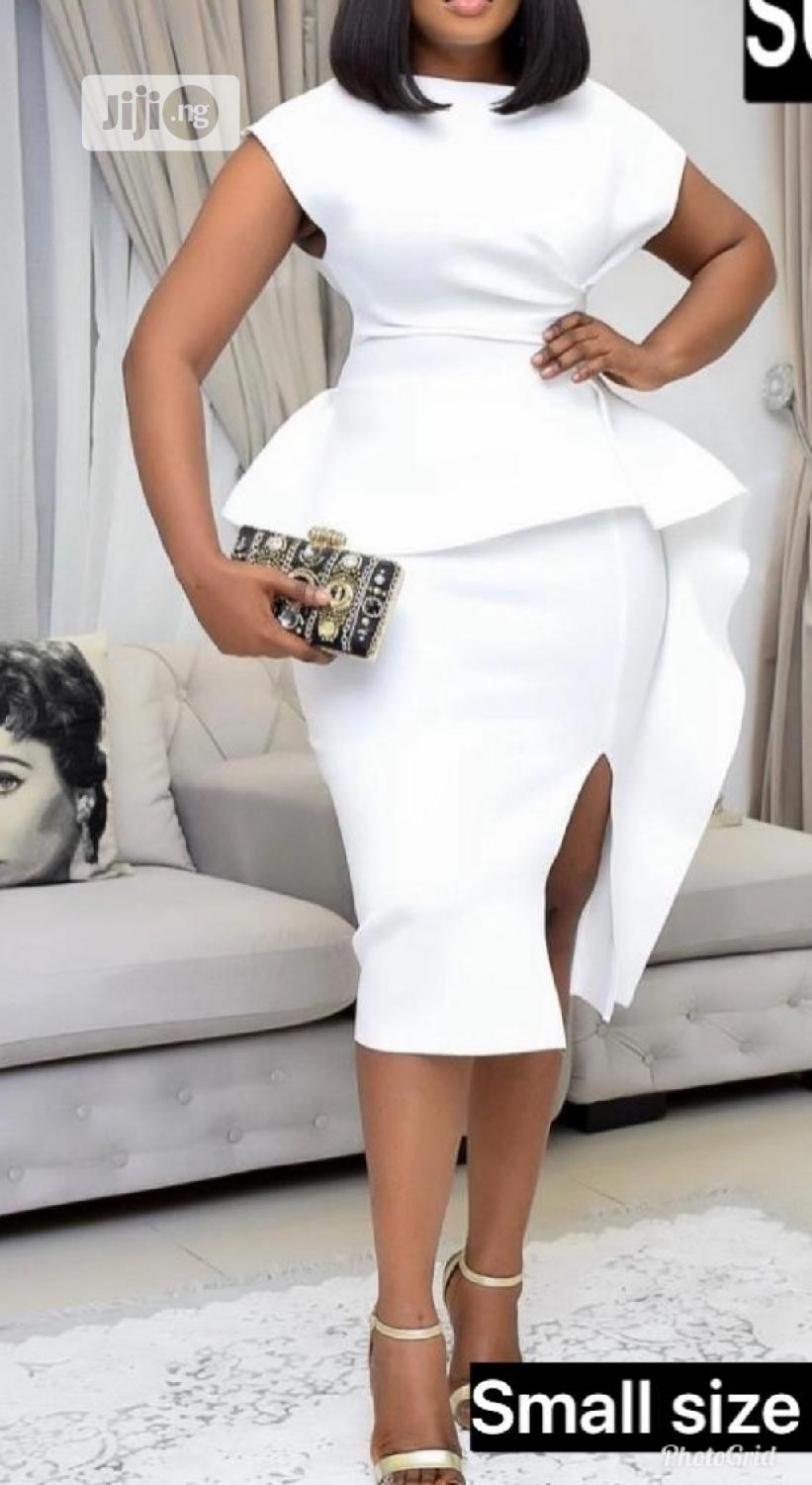 Turkey Peplum Gown With Side Slit | Clothing for sale in Ojo, Lagos State, Nigeria