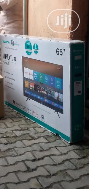 Hisense 65inches Led Smart TV   TV & DVD Equipment for sale in Lagos State, Ojo