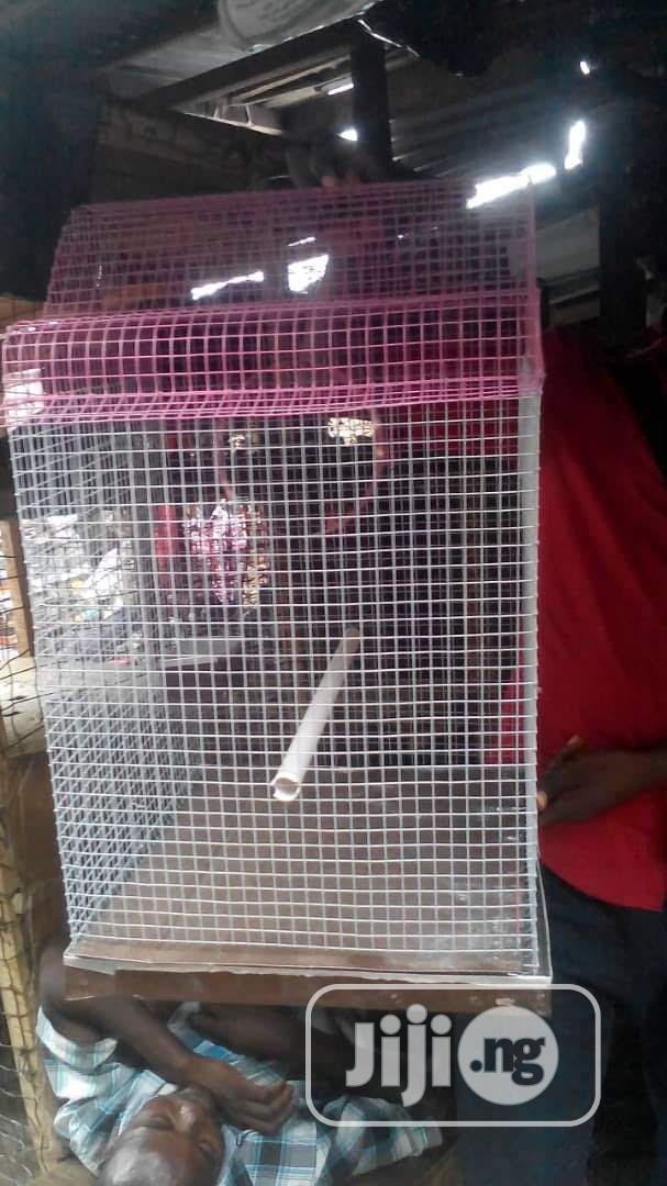 Well Built Local Cage For Your Parrot | Pet's Accessories for sale in Surulere, Lagos State, Nigeria