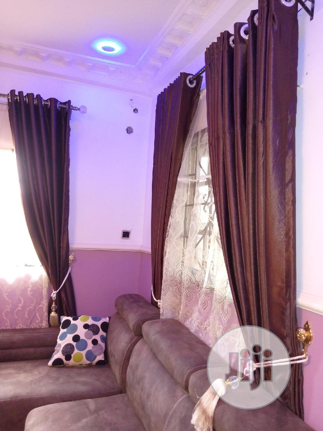 High Quality Designer Blown Curtain | Home Accessories for sale in Benin City, Edo State, Nigeria
