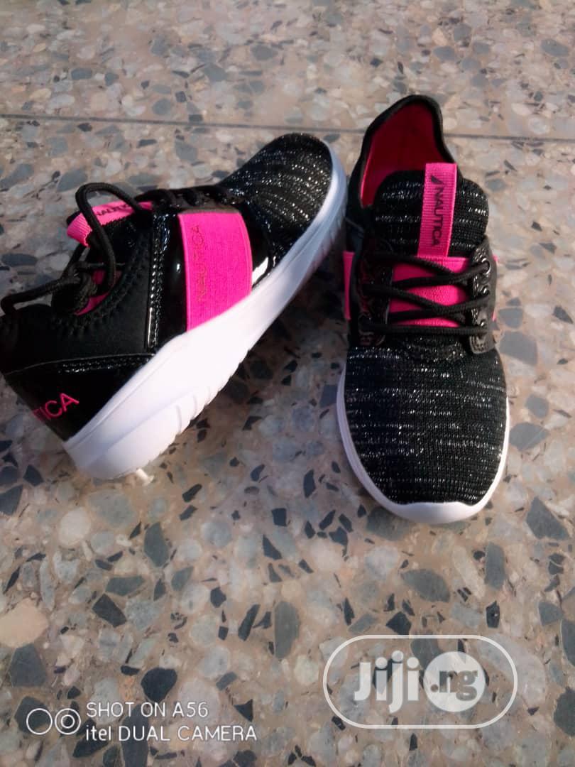 Archive: Black and Fuschia Pink Nautica Sneakers