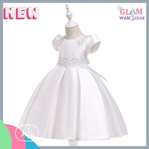 Girls Baptism Graduation Pleated Ball Party Dress 3-7yrs   Children's Clothing for sale in Lagos State, Surulere