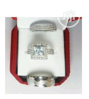 Lovely Silver Wedding Ring Set | Wedding Wear & Accessories for sale in Lagos State, Victoria Island