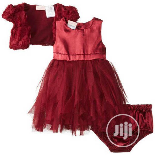 Archive: Nannette Baby 3 Piece Chiffon Mesh Dress Shrug and Pant