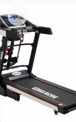 2.5hp German Machine Treadmill With Massager Dumbbel Incline   Sports Equipment for sale in Lagos State, Surulere
