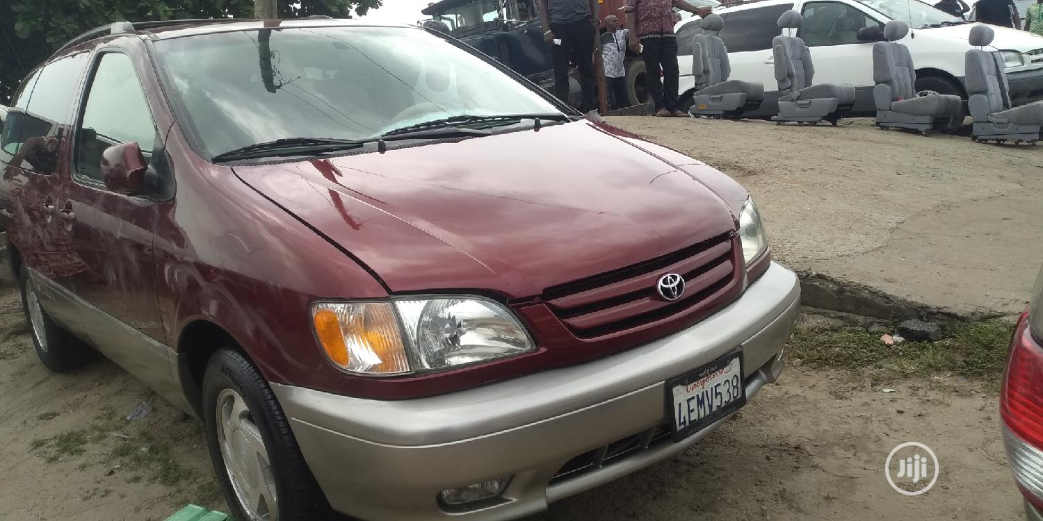 Toyota Sienna 2003 Red   Cars for sale in Apapa, Lagos State, Nigeria