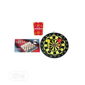 Mini Board Game- Chess And Dart With Free Whot | Books & Games for sale in Lagos State, Ikeja