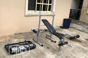 Weight Lifting Bench With 50kg Case Dumbbell | Sports Equipment for sale in Lagos State, Surulere
