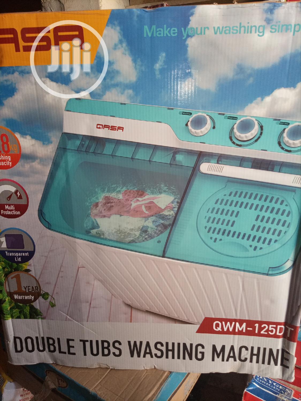 Qasa Manual Double Tubs Washing Machine,7.8 Kg | Home Appliances for sale in Agege, Lagos State, Nigeria
