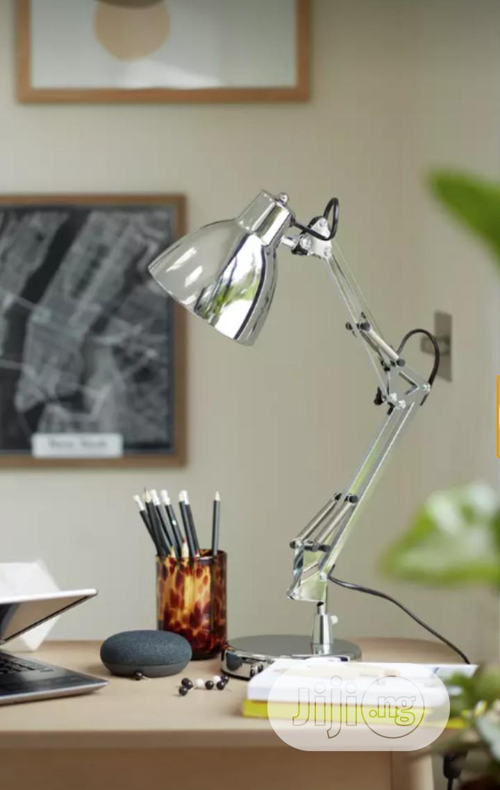 Chrome Task Table Lamp
