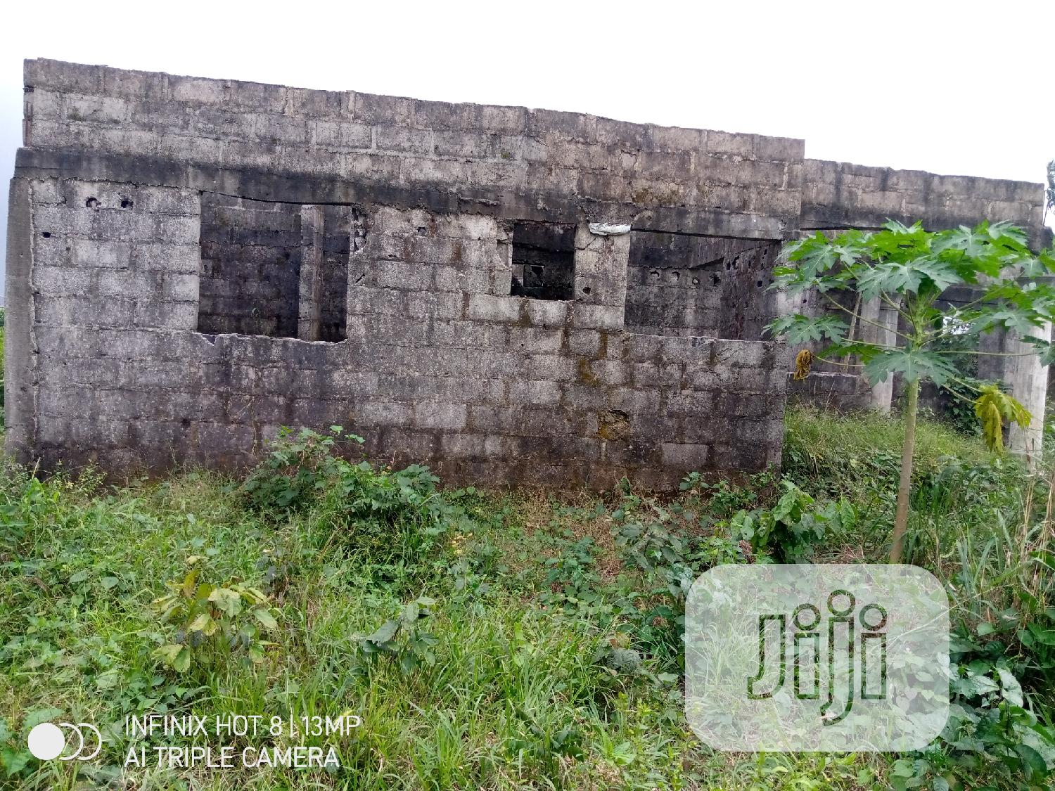An Uncompleted Building Up for Sale.