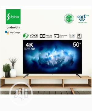 """Syinix 50"""" LED Ultra HD Android 4K Version TV 
