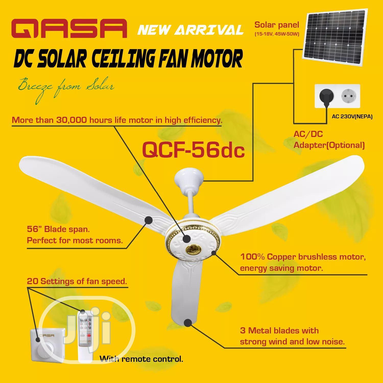 QASA Ac/Dc Ceiling Fan With Solar Panel 50watt