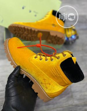 Off White Virgil Abloh Velvet Boot   Shoes for sale in Lagos State, Ogudu