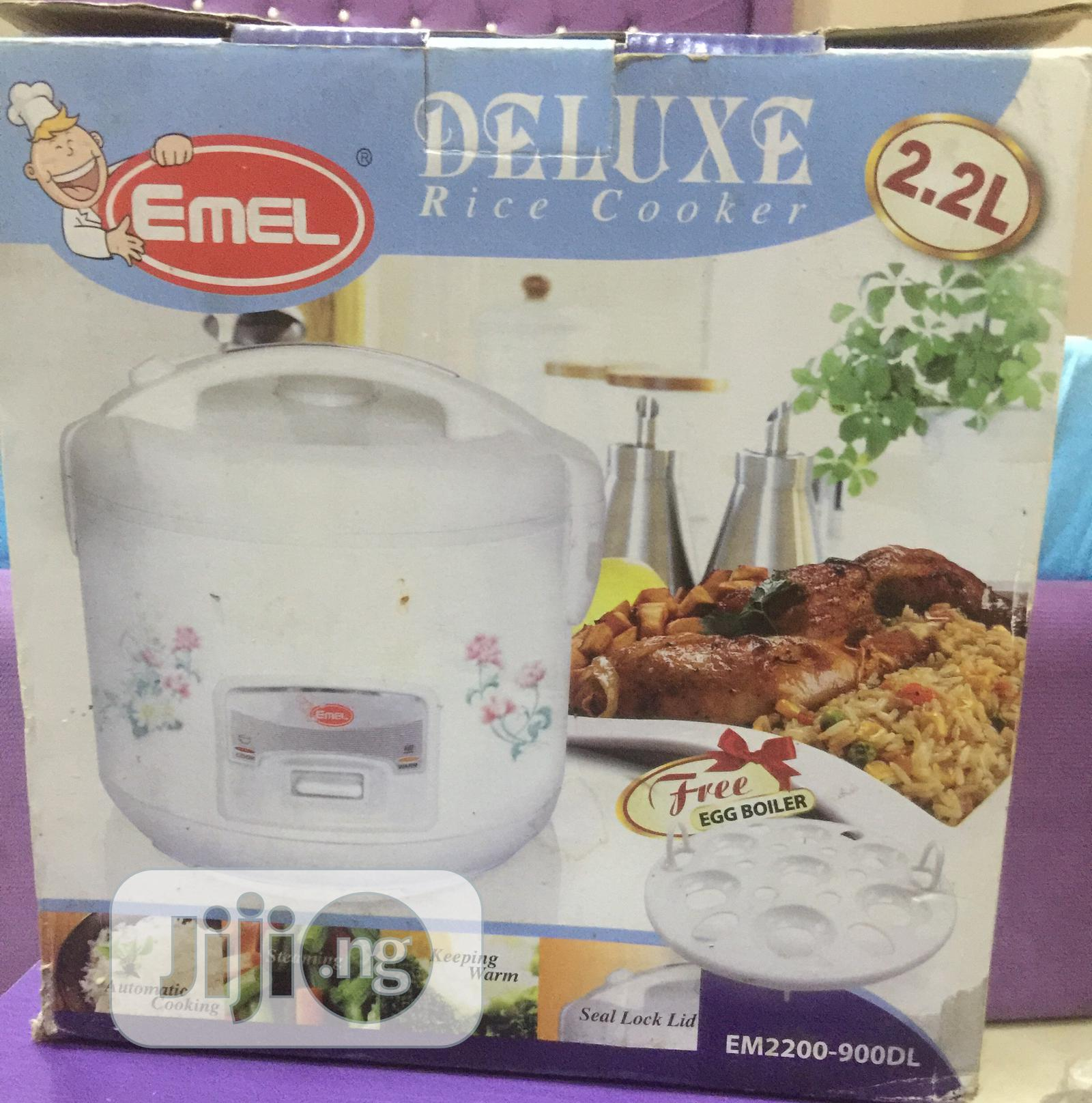 Brand New Emel Rice Cooker And Egg Boiler 2 2l In Amuwo Odofin Kitchen Appliances Queen Udoh Jiji Ng For Sale In Amuwo Odofin Queen Udoh On Jiji Ng