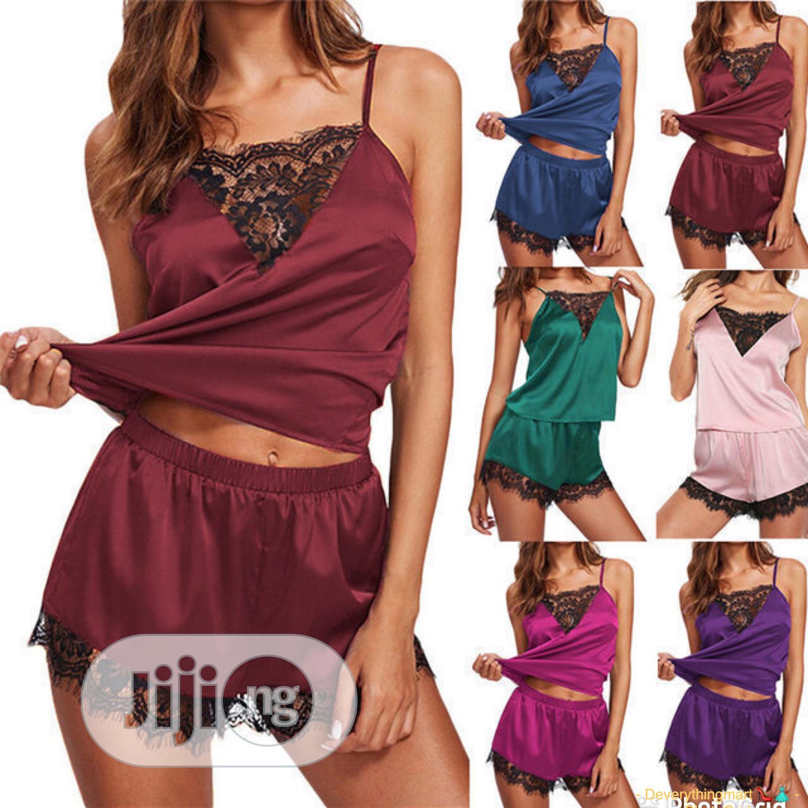 Sexy Lace Short & Singlet Lingerie Set